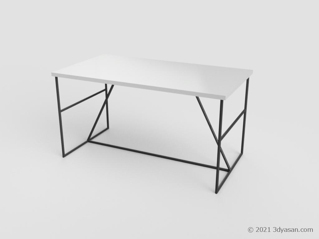 ダイニングテーブルの3Dモデル