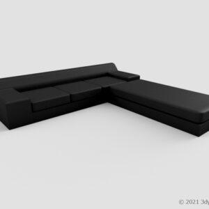 カウチ付き大きいソファ
