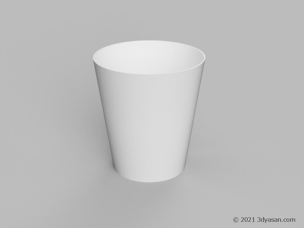 白いゴミ箱の3Dモデル