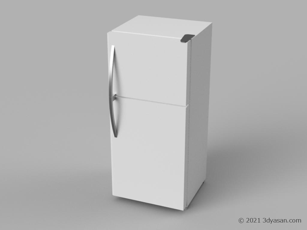 冷蔵庫の3Dモデル