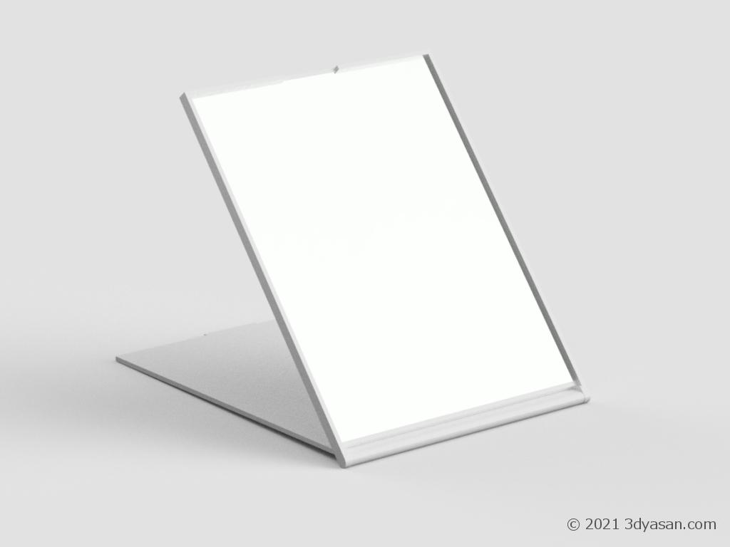 折り畳みミラーの3Dモデル