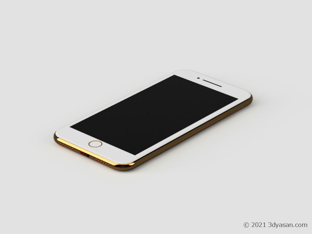 スマートフォンの3Dモデル