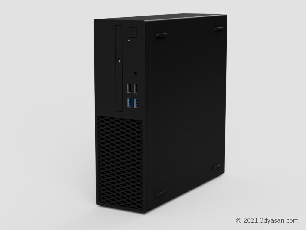 パソコンの3Dモデル