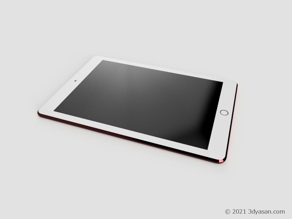 タブレットの3Dモデル