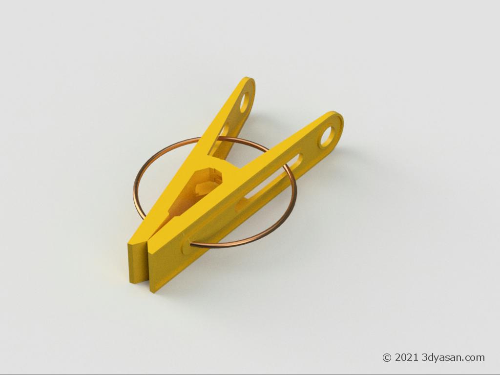 洗濯ばさみの3Dモデル