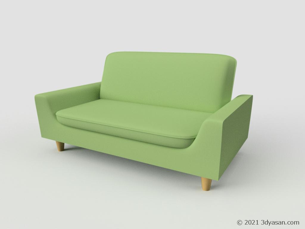 ソファの3Dモデル