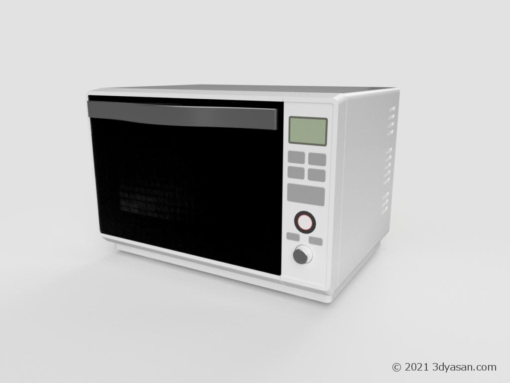 電子レンジの3Dモデル