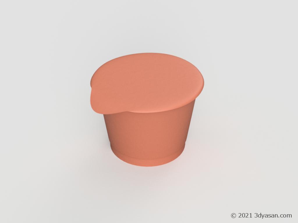 ヨーグルトの容器の3Dモデル