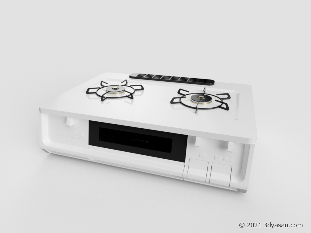 ガスコンロの3Dモデル