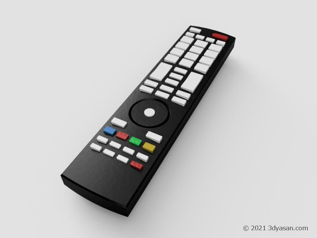 TVのリモコンの3Dモデル