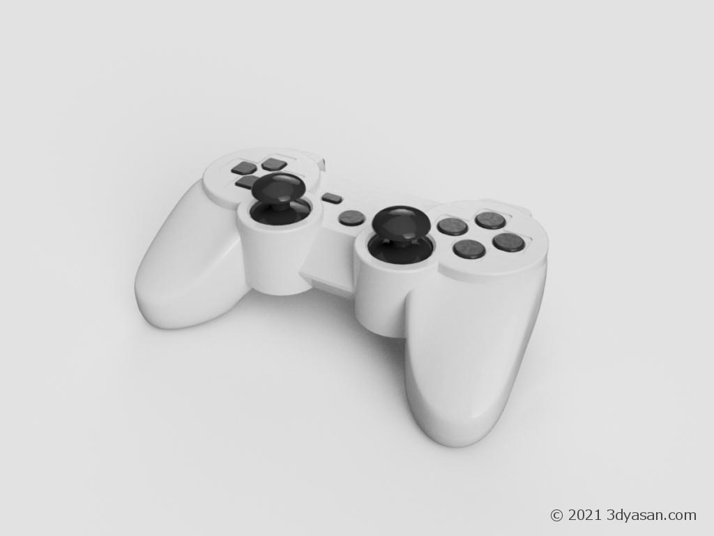 ゲームのコントローラーの3Dモデル