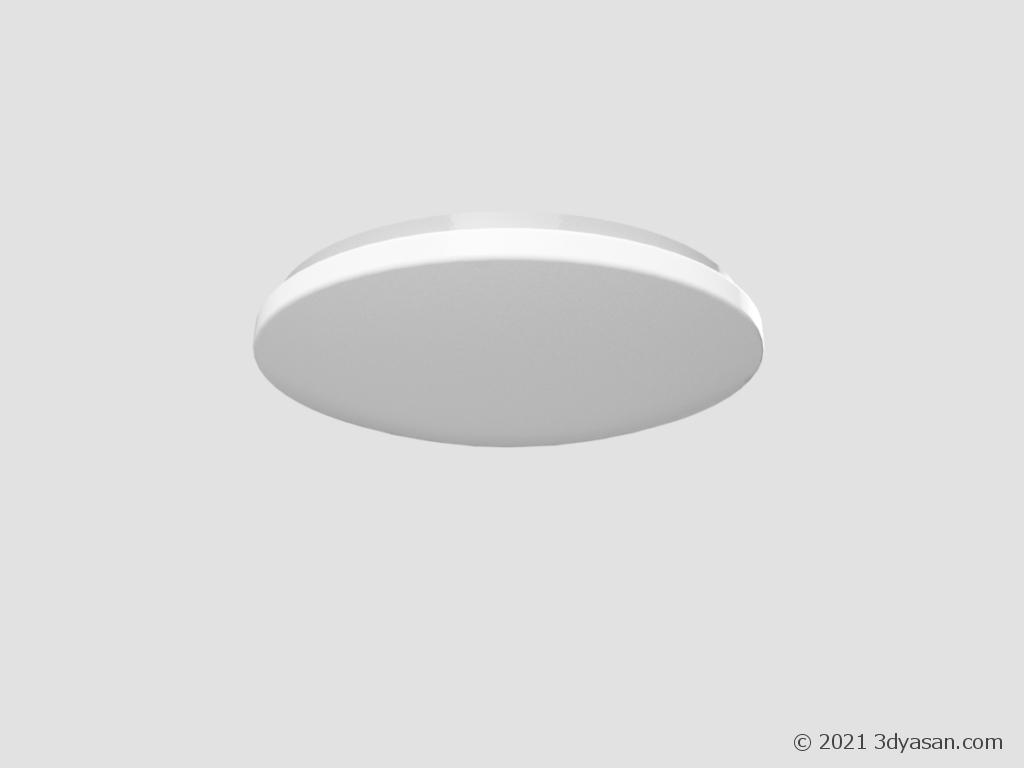 シーリングライトの3Dモデル