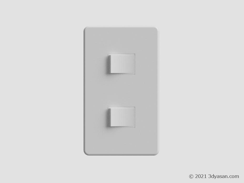 電気スイッチの3Dモデル