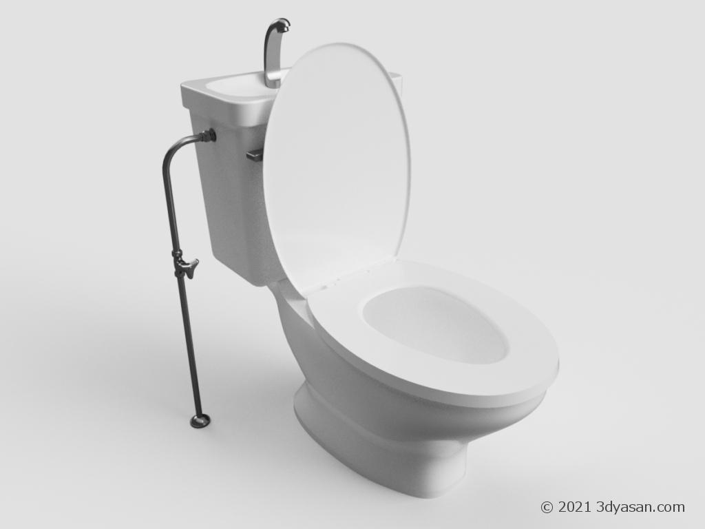 洋式トイレの3Dモデル