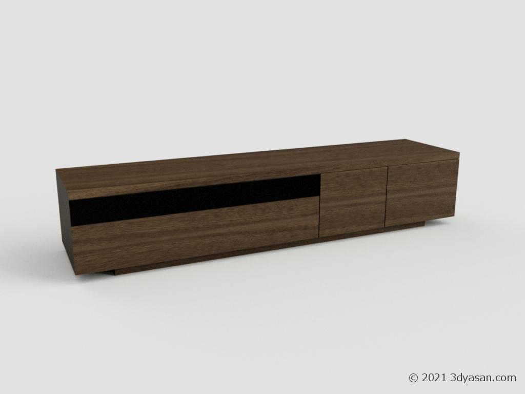 テレビボードの3Dモデル