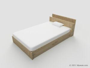 セミダブルベッドの3Dモデル