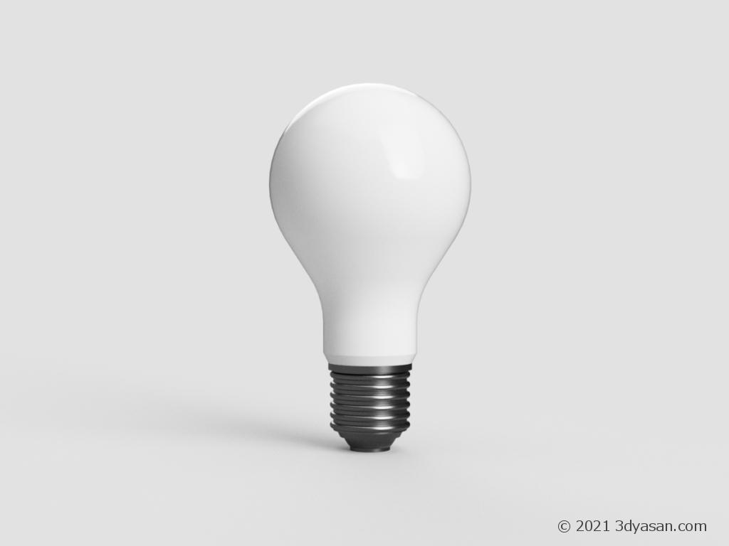 電球の3Dモデル