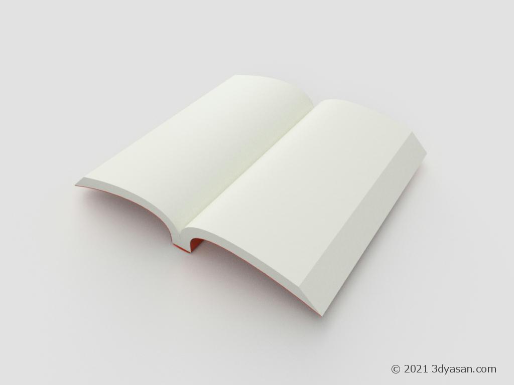 漫画サイズの本の3Dモデル