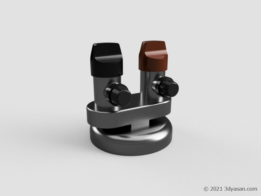 ガスコックの3Dモデル