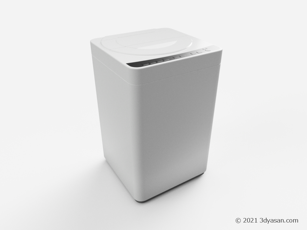 縦型洗濯機の3Dモデル