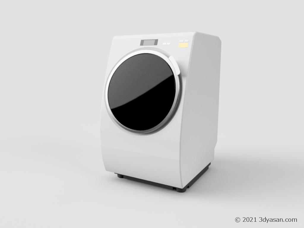 ドラム式洗濯機の3Dモデル