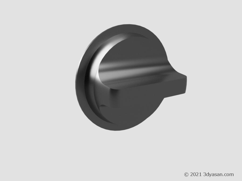 サムターン錠の3Dモデル