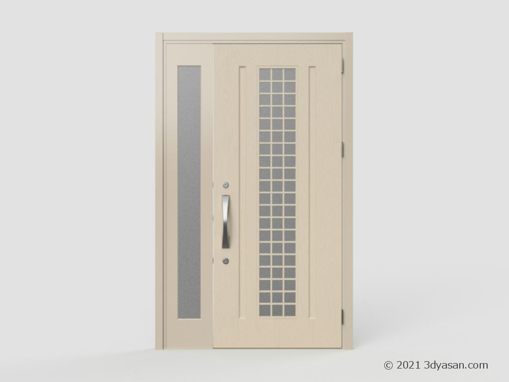 玄関ドアの3Dモデル