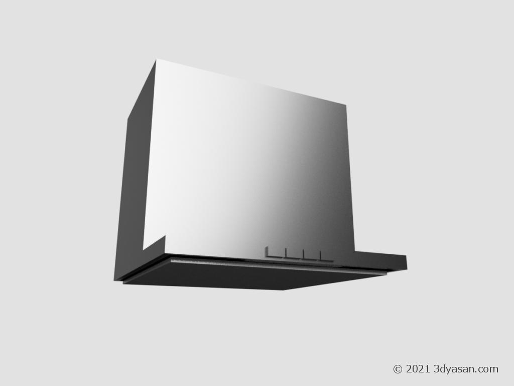 レンジフード(換気扇)の3Dモデル