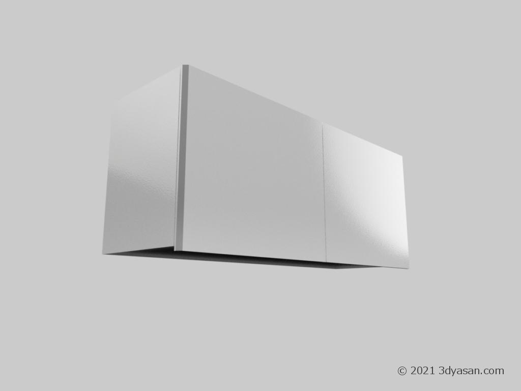 吊戸棚の3Dモデル