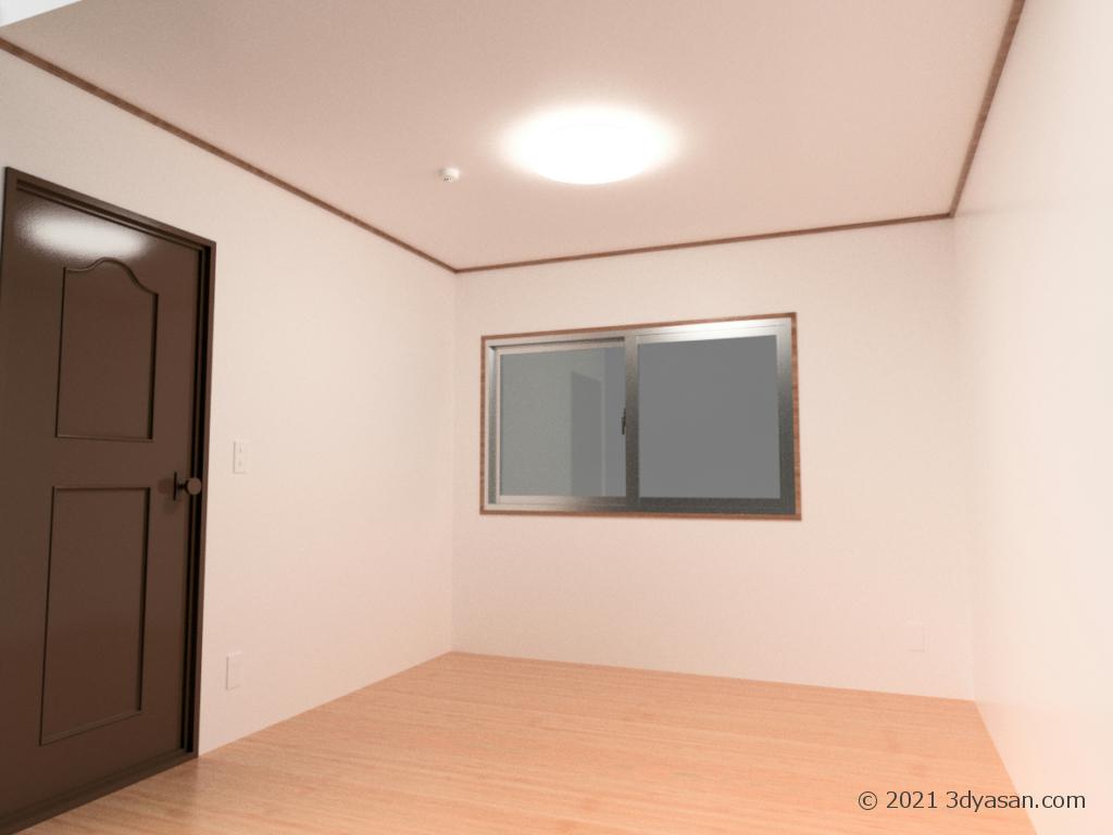 4畳半の部屋の3Dモデル