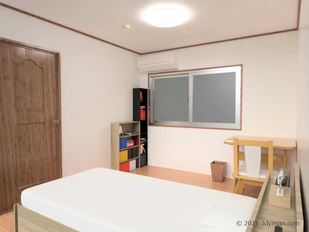 私室の3Dモデル