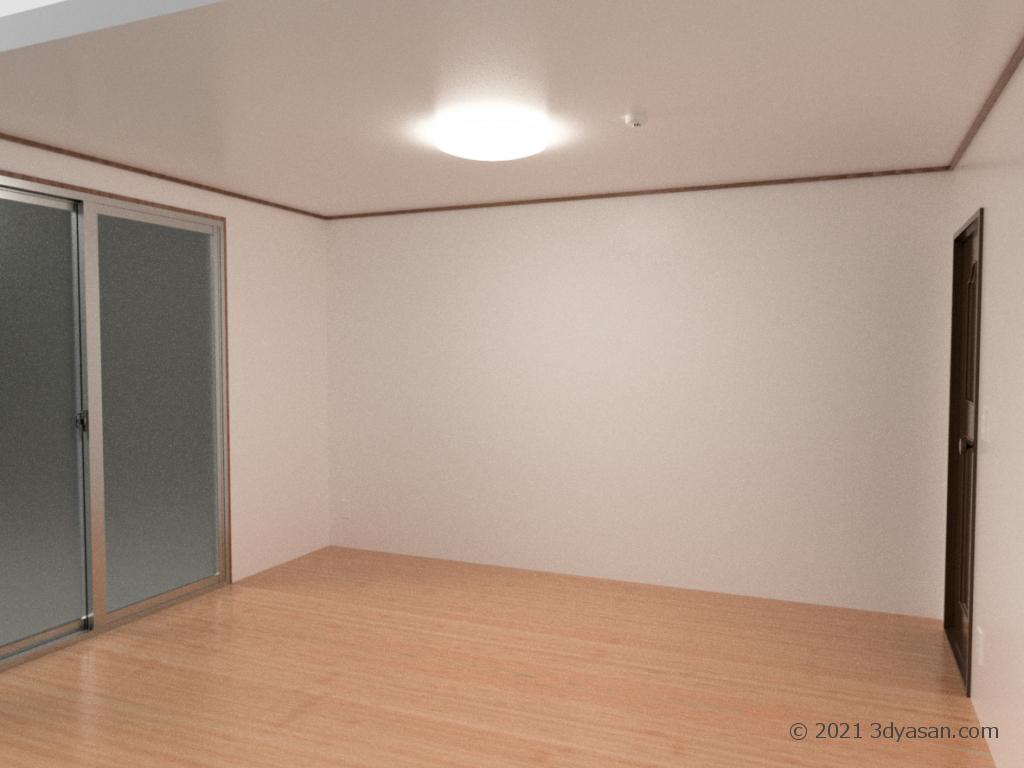 6畳の部屋の3Dモデル