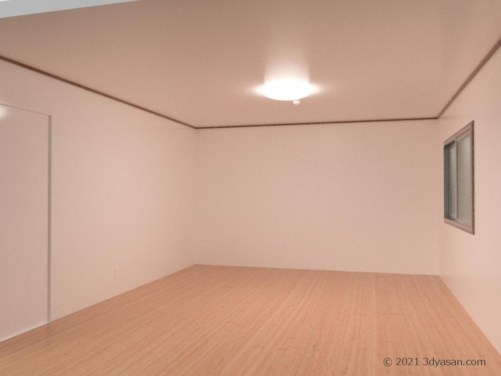 10畳の部屋の3Dモデル