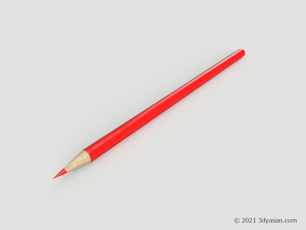 色鉛筆の3Dモデル