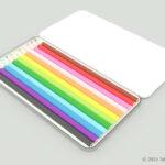 色鉛筆12色セットの3Dモデル