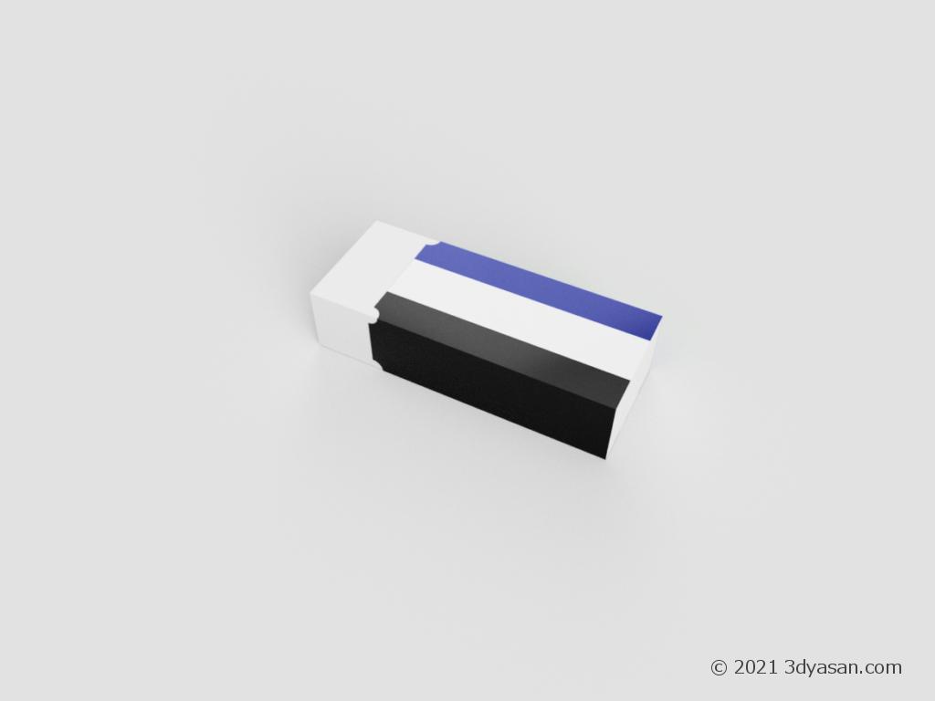 消しゴムの3Dモデル