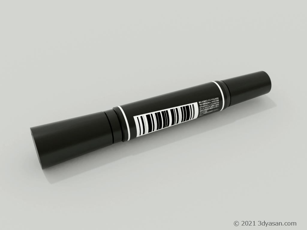 太い油性マーカーの3Dモデル