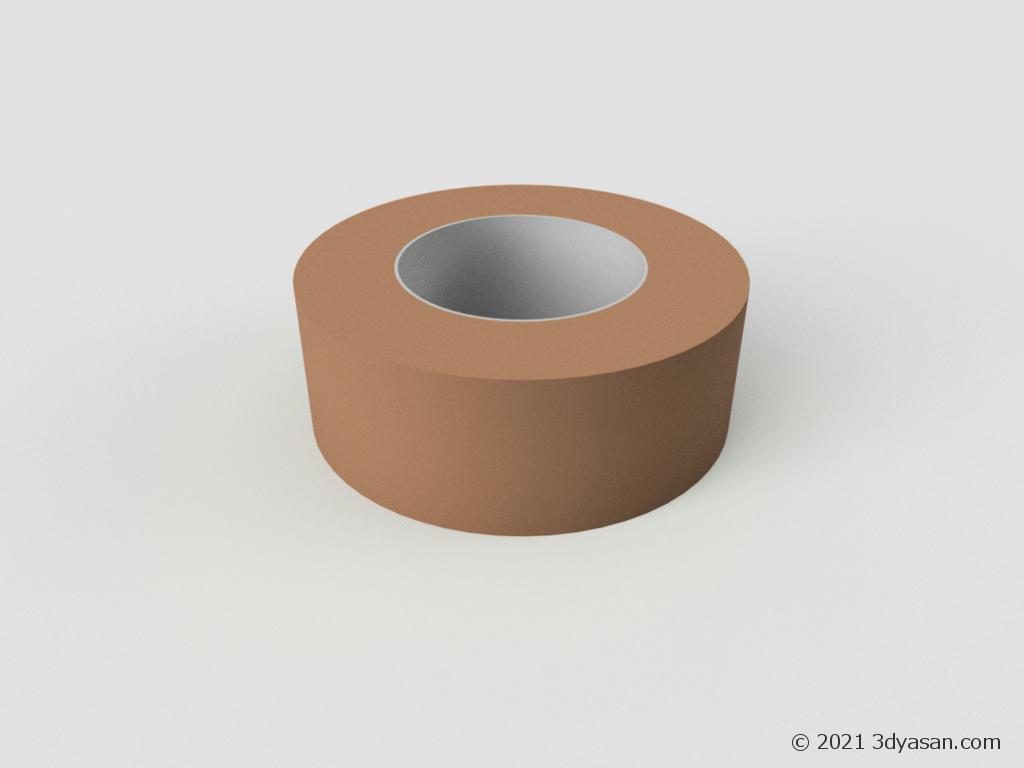 ガムテープの3Dモデル