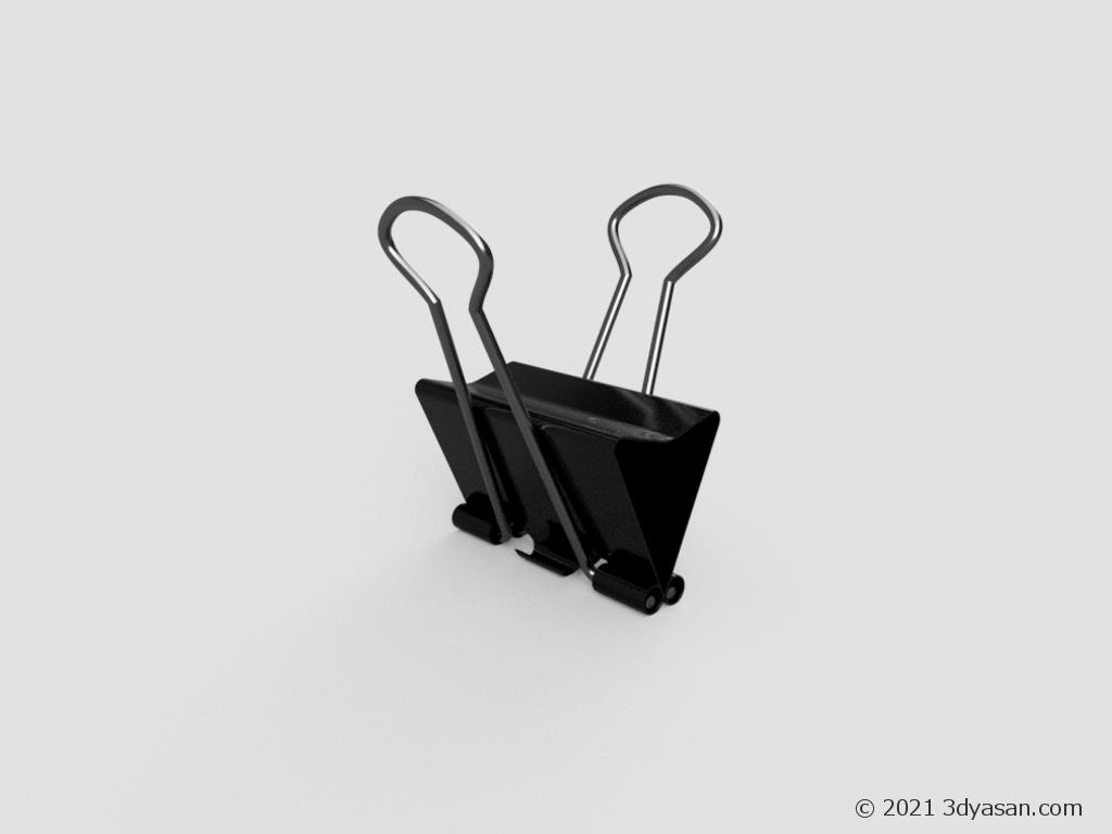 ダブルクリップの3Dモデル