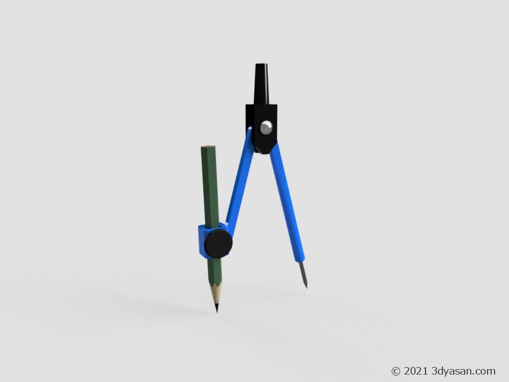 コンパスの3Dモデル