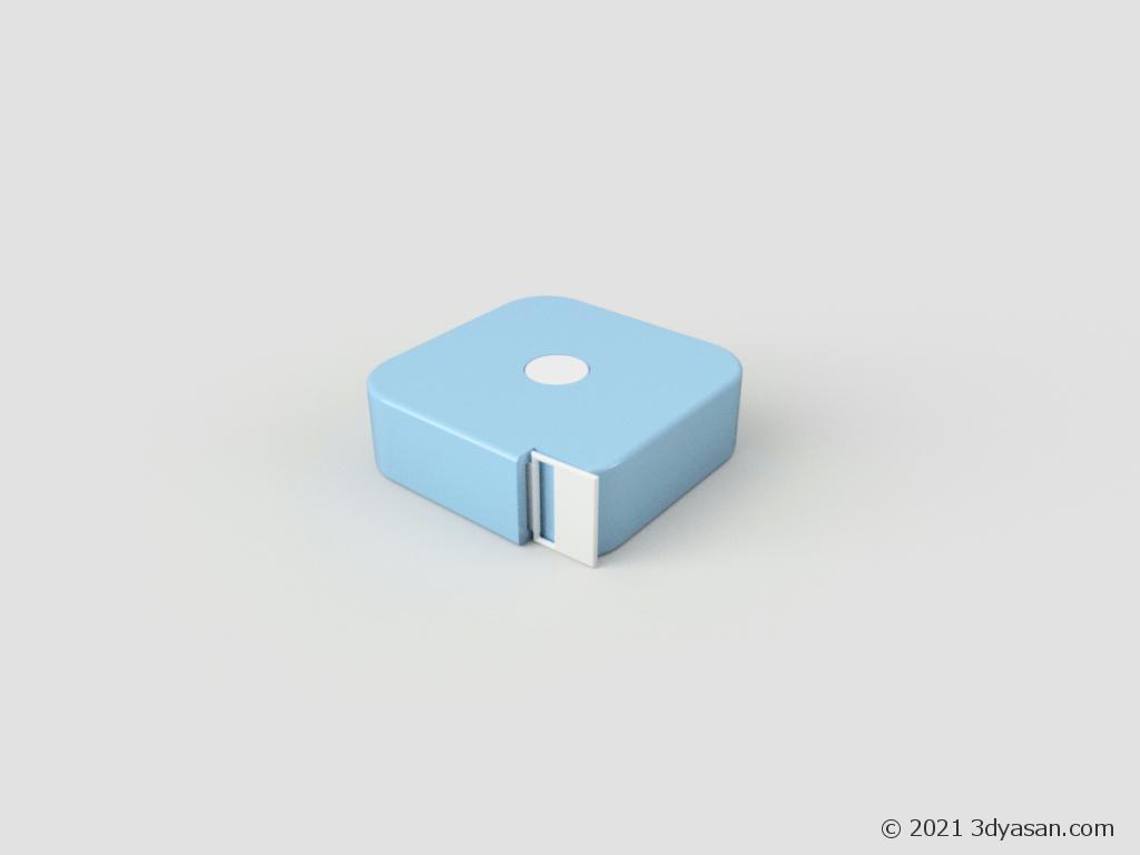 メジャー(巻き尺)の3Dモデル