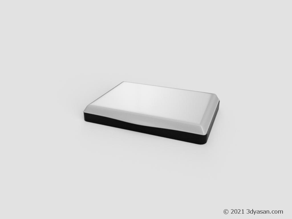 スタンプ台の3Dモデル