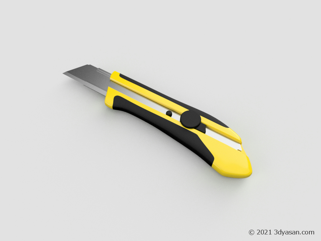 大型カッターナイフの3Dモデル