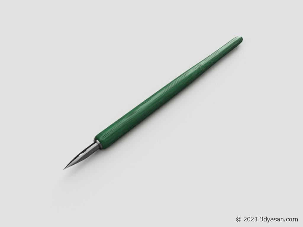 丸ペンの3Dモデル