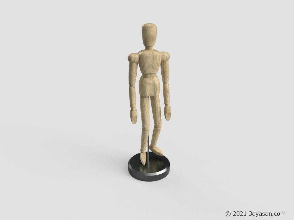 デッサン人形の3Dモデル