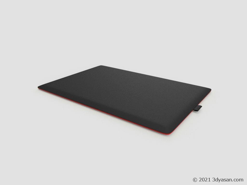 板タブレットの3Dモデル
