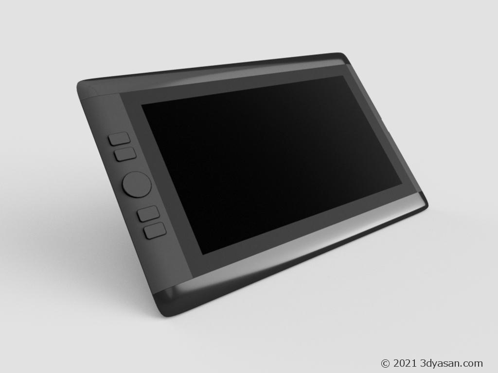 液晶タブレット(液タブ)の3Dモデル