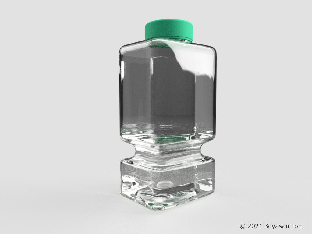 ブラシクリーナーボトルの3Dモデル