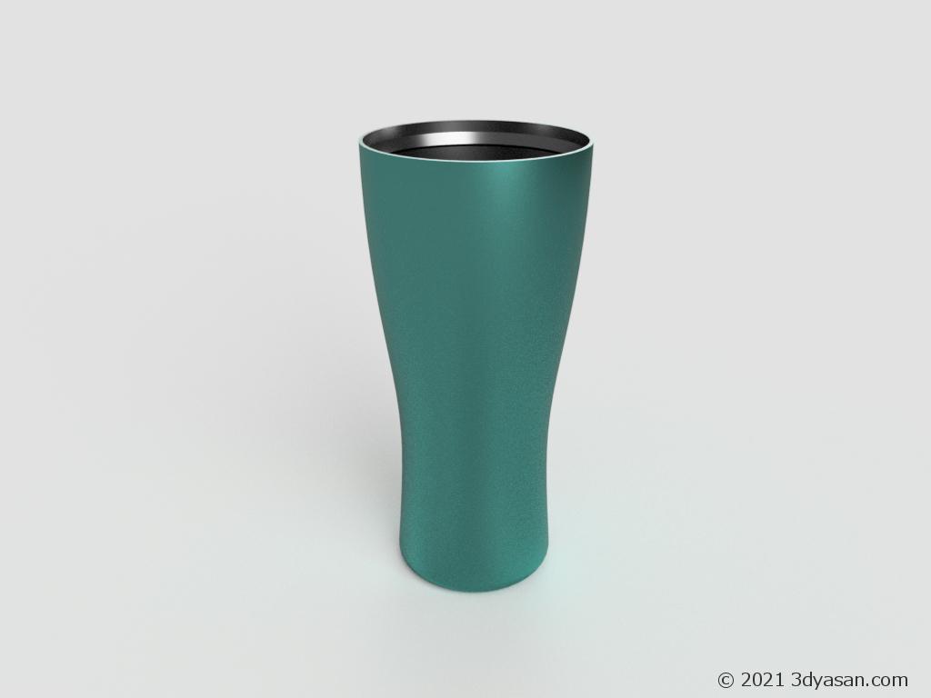 ステンレスタンブラーの3Dモデル