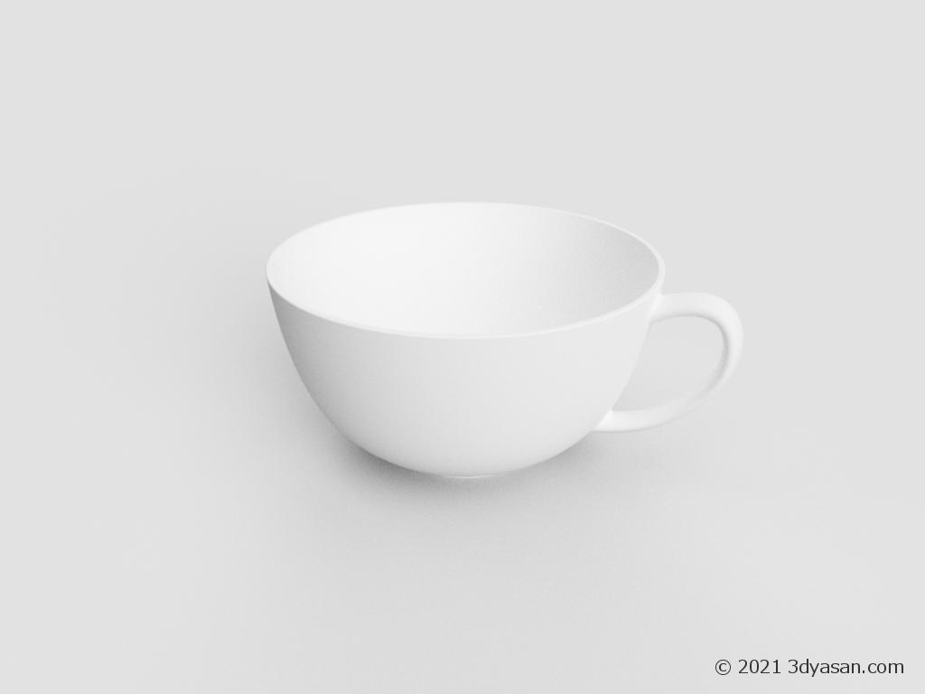 スープマグの3Dモデル
